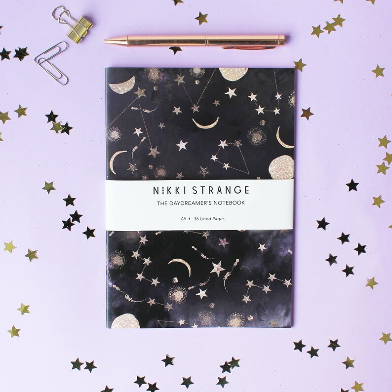 Constellations A5 Notebook with lined pages image 0