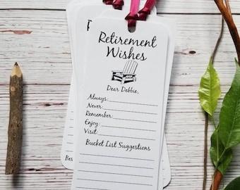 8 Handmade Retirement Wishing Tree Tags / Bookmarks / Retirement Wishes Cards / Retirement Advice Cards / Retirement Reception Idea