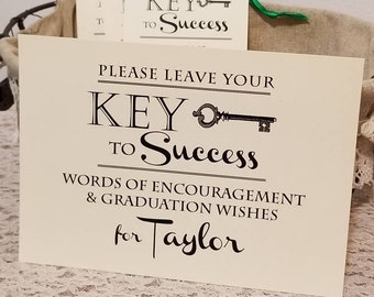 Sign for Graduation Party Wish & Advice tags / 5x7 Sign / Instruction Card / Graduation Wishing Tree Sign