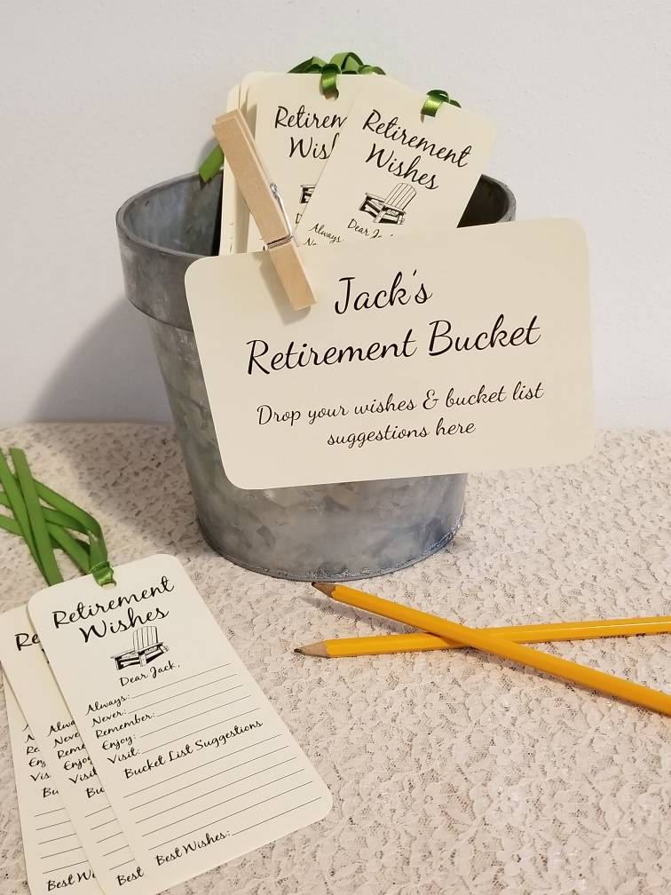 Retirement Bucket Sign for Retirement Party / For ...