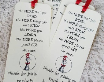 Set of 8 Bookmark Favors for Baby Shower or Birthday Party with Children's Book Quote
