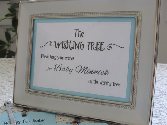 Wishing Tree Instruction Card For Baby Shower 5x7 Sign Etsy
