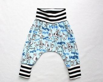 22ae02f906369 Finding Nemo Seagulls Mine Harem pants (Made to Order - 0 mo to 3T) Mine  Mine Mine Harem Pants Baby Nemo Costume Baby Disneyland Outfit