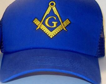 Masonic Logo baseball cap embroidered faternal freemason accessory 187cb03f9d6