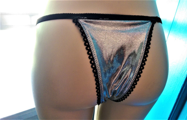 Shiny Silver Panties