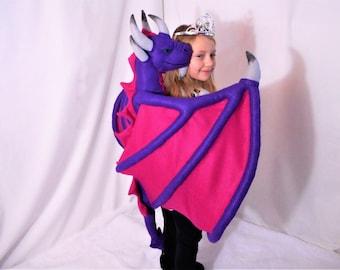 Child Safe Felt Hugging Back Dragon PDF Pattern