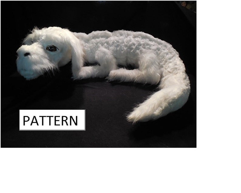 PDF PATTERN for Falkor plush image 0