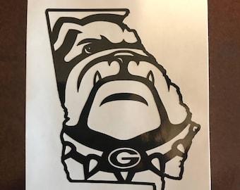 Georgia GA State Outline Vinyl Decal Sticker
