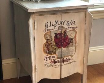 Antique Music Sheet Cabinet