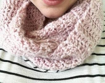 Blush pink infinity scarf