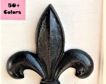 Fleur De Lis Wall Decor Black French Inspired Wall Plaque Cast Iron Metal