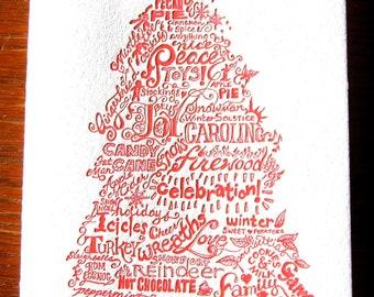 Christmas Tree Letterpress Holiday Card