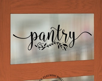 Pantry Vinyl Decal - Pantry Door Decal - Glass Door Decal - Farmhouse Decor Rustic Country - Pantry Wall Decal - Kitchen Wall Decor KQ003