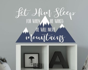 Let Him Sleep Religious Quote Wall Sticker WS-17037