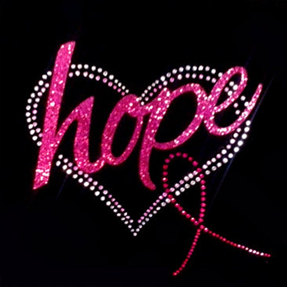 Breast cancer glitter graphics