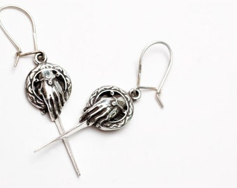 Hand of the King earrings in fine .925 silver by Bakutis