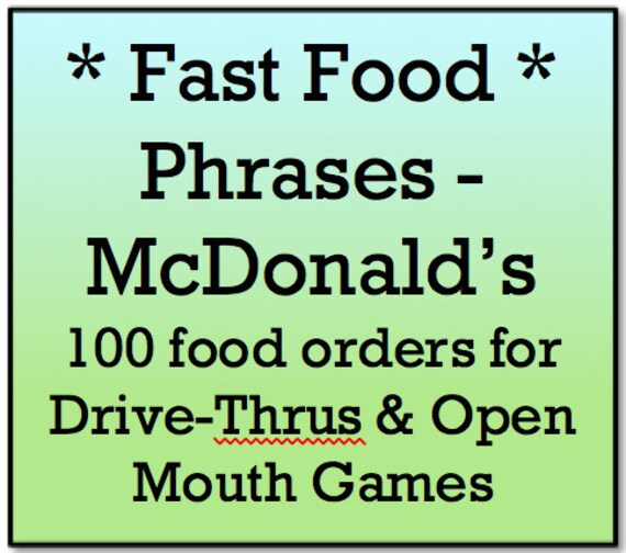 image relating to Watch Ya Mouth Printable Phrases referred to as Mouth Activity Text - Prompt Meals Text for MacDonalds - Monitor Ya Mouth and Open up Mouth Online games - 100 Printable Term Playing cards