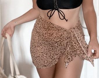 Neutral wild sarong, chiffon
