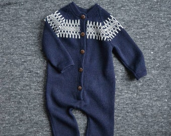 Blue jumpsuit knit baby jumpsuit baby boy overall knit baby suit blue baby alpaca jumpsuit wool knitted suit jumpsuit boy blue baby bodysuit