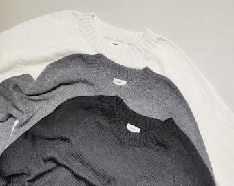 SAMPLE SALE Rib trim pullover in 100% baby alpaca