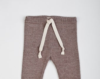 Wool baby pants 100% baby alpaca wool leggings for newborn - 8 years