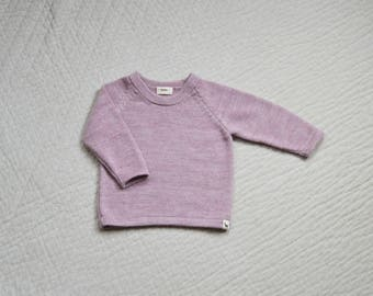 Pink sweater kids knit jumper in baby alpaca wool sweater pullover kids baby girl pullover alpaca sweater baby girl sweater pink knit jumper