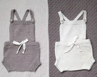 Baby romper knitted boy romper toddler romper girl romper newborn baby photo prop wool romper gray white romper baby boy girl shower gift