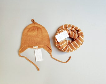 Hat and scarf set for kids 4-10 years
