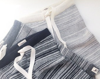 Wool sweatpants in  100% baby alpaca ready to ship