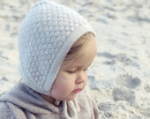 Baby hat alpaca wool baby cap textured knit newborn hat baby bonnet baby boy hat white gray brown taupe ivory pink baby gift baby girl gift