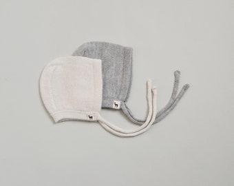 Baby cap gray knit cap baby charcoal white blue hat baby hat baby bonnet girl alpaca cap wool baby cap knit baby cap knitted baby bonnet boy