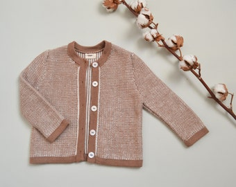 Patterned sweater in baby alpaca