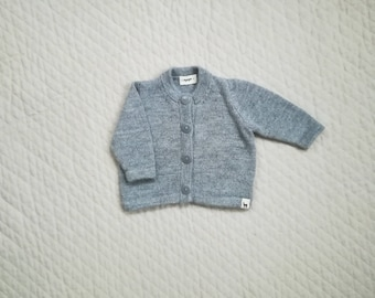 Baby cardigan in alpaca wool for boy girl newborn - 2 years