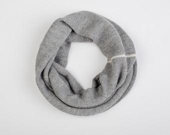 Gray infinity Scarf 100% alpaca wool scarf soft warm alpaca scarf loop scarf wool Circle Scarf woman girl boy kids scarf knitted kids scarf