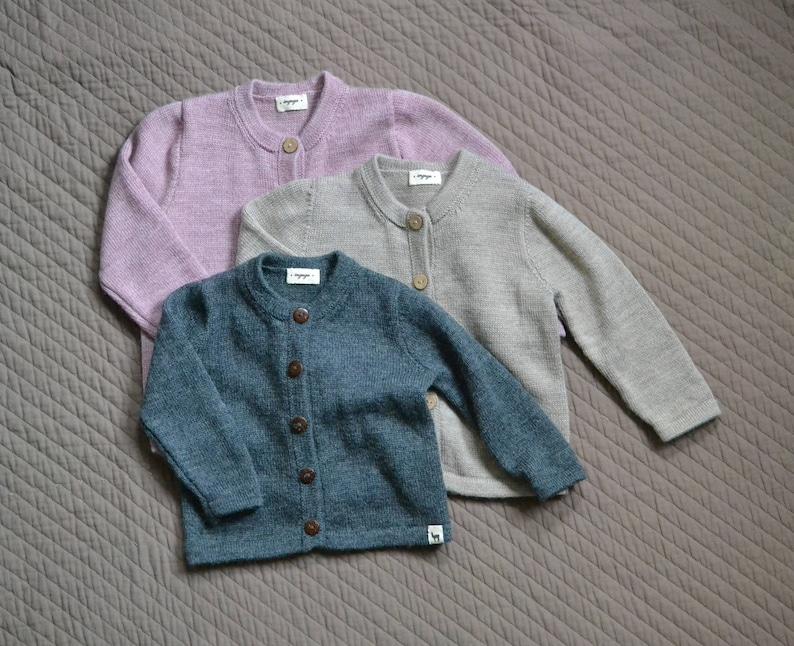 ae3d1354b Baby cardigan kids alpaca boy sweater girl sweater knitted