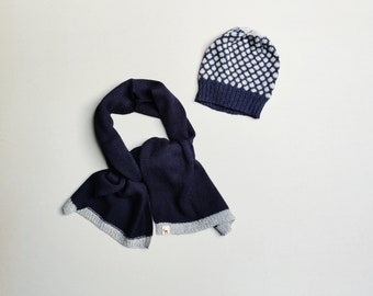Hat and scarf set for kids