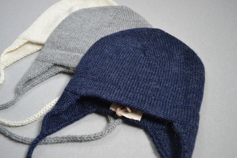 bee5e3acb72 Kids earflap hat in alpaca wool