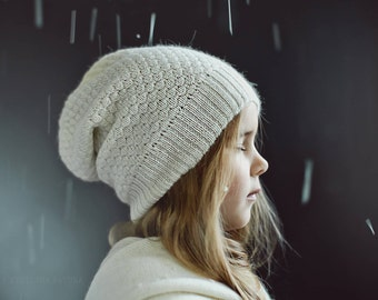 Textured knit hat for kids