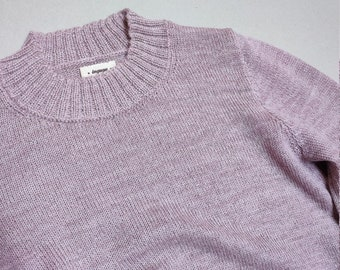 Woman jumper in extra-fine knit wool baby alpaca pullover for woman sweater white brown blue gray