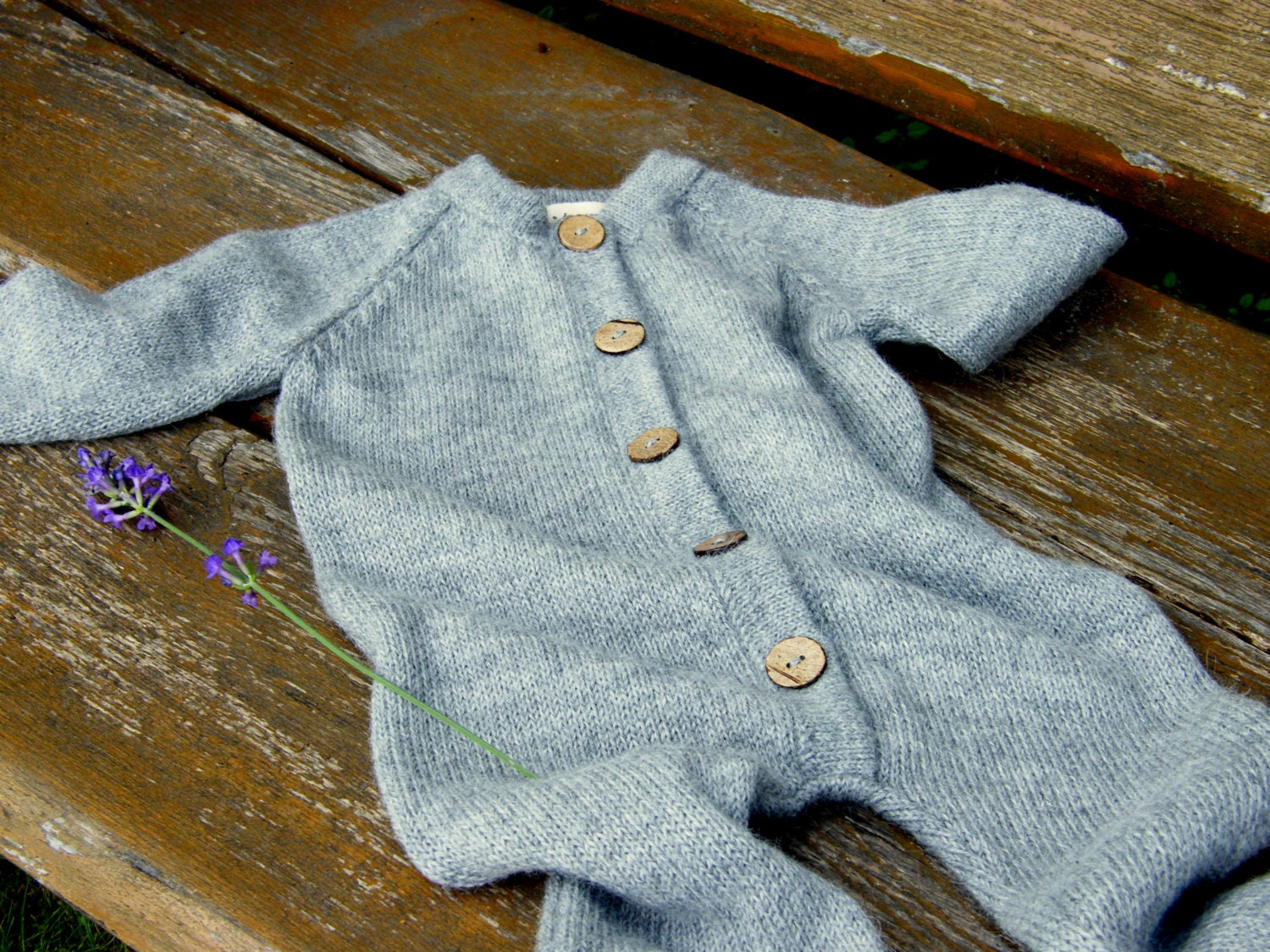 45153fbae04b2 Baby knit jumpsuit alpaca wool overall baby boy outfit baby girl jumper  raglan overall baby alpaca knit suit knit baby jumpsuit gray romper
