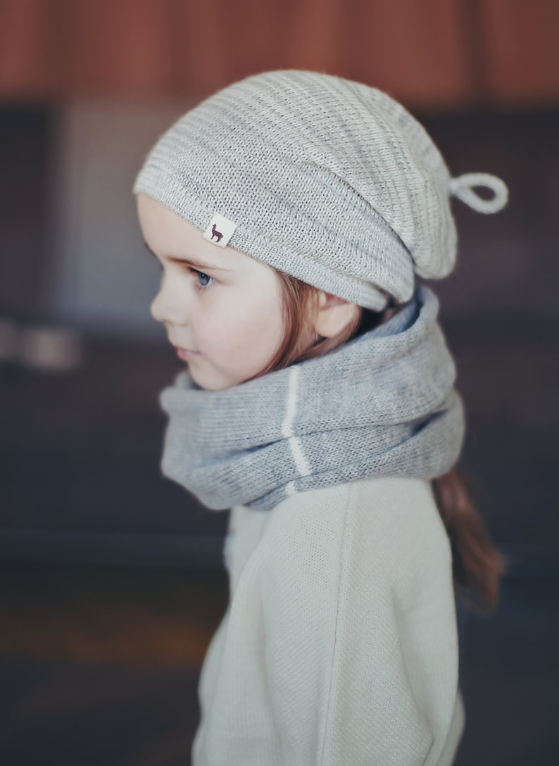 c380415e64a Melange hat   baby   children   toddler   alpaca wool slouchy