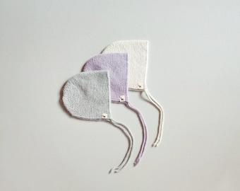 Baby cap bonnet alpaca