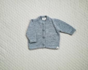 Baby cardigan in alpaca wool for boy girl newborn - 2 years