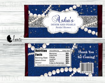 03b1a122d004 Denim and Pearls Candy Wrappers