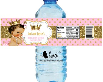Baby Shower Water Bottle Labels Etsy