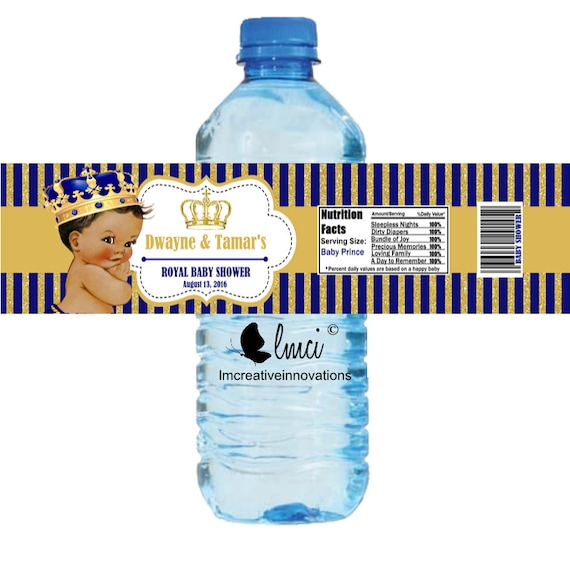 Royal Baby Shower Water Bottle Labels Royal Birthday Bottle Etsy