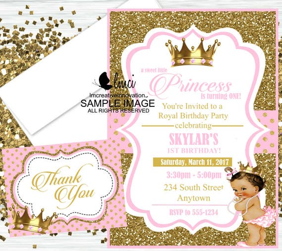 Royal Princess Birthday Invitation Little
