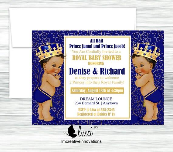 Twins Baby Shower Invitation Royal Baby Shower Invitation