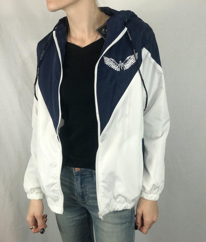 e517fa1db0d Angel Wings Windbreaker Custom Design Hooded Members only   Etsy