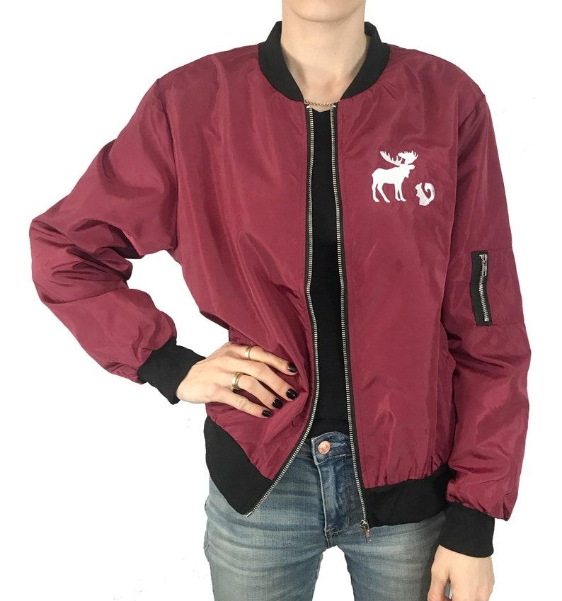 de6f71c378a Red Bomber Jacket Supernatural Custom Embroidered Design   Etsy